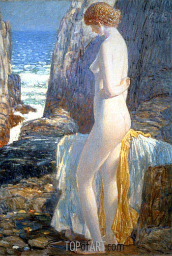 Nude, Appledore, Isle of Shoals, 1913 | Hassam | Painting Reproduction