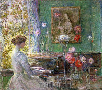 Improvisation, 1899 | Hassam | Gemälde Reproduktion