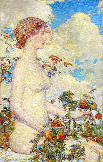 Pomona, 1900 | Hassam | Painting Reproduction