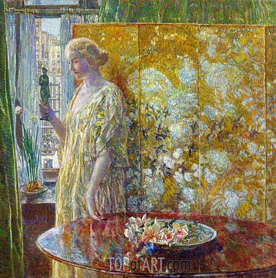 Tanagra (The Builders, New York), 1918 | Hassam | Painting Reproduction