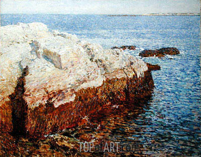 Cliff Rock, Appledore, 1903 | Hassam | Painting Reproduction