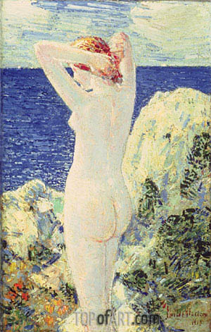The Bather, 1915 | Hassam | Painting Reproduction