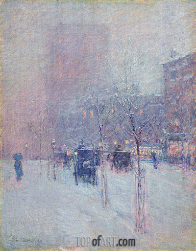 Late Afternoon, New York, Winter, 1900 | Hassam | Gemälde Reproduktion