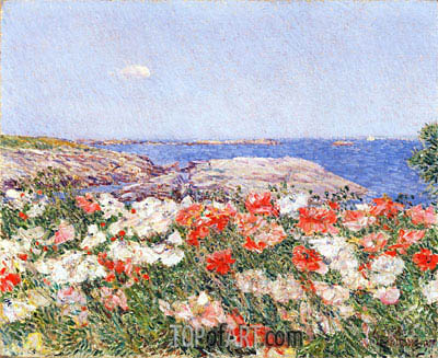 Poppies on the Isles of Shoals, 1890 | Hassam | Gemälde Reproduktion