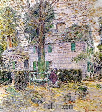 Indian Summer in Colonial Days, 1899 | Hassam | Painting Reproduction