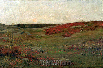 Sunrise, Autumn, c.1885 | Hassam | Painting Reproduction