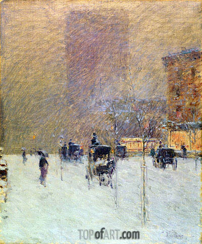 Winter Afternoon in New York, 1900 | Hassam | Painting Reproduction