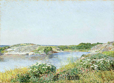The Little Pond, Appledore, 1890 | Hassam | Painting Reproduction