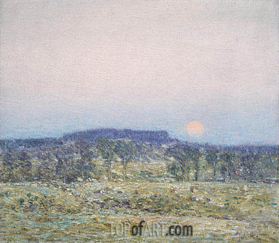 September Moonrise, 1900 | Hassam | Painting Reproduction