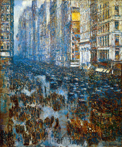 Fifth Avenue, 1919 | Hassam | Painting Reproduction