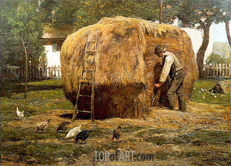 The Barnyard, 1885 | Hassam | Painting Reproduction