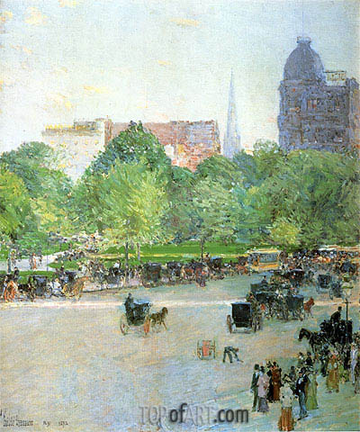 Union Square, 1892 | Hassam | Painting Reproduction