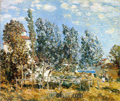 The Southwest Wind, 1905 | Hassam | Painting Reproduction