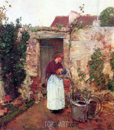 The Garden Door, undated | Hassam | Gemälde Reproduktion