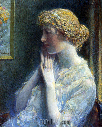 The Ash Blond, 1918 | Hassam | Painting Reproduction