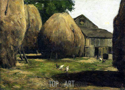 Haystacks, 1887 | Hassam | Painting Reproduction