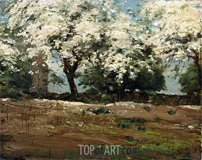 Blossoms, c.1880 | Hassam | Painting Reproduction