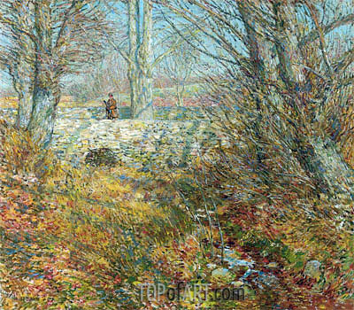 The Stone Bridge, Old Lyme, 1904 | Hassam | Painting Reproduction