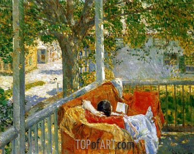 Couch on the Porch, Cos Cob, Undated | Hassam | Gemälde Reproduktion