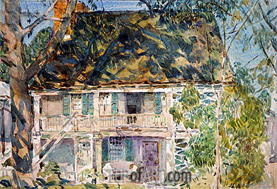 The Brush House, 1916 | Hassam | Gemälde Reproduktion