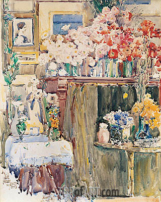 The Altar and Shrine, 1892 | Hassam | Painting Reproduction