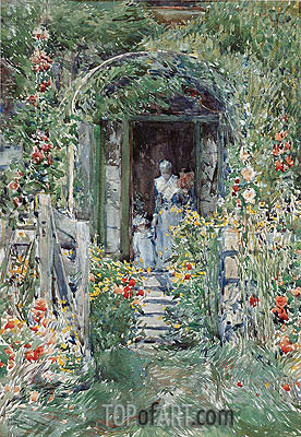 The Garden in Its Glory, 1892 | Hassam | Gemälde Reproduktion