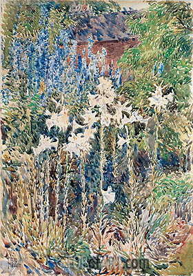 Flower Garden, 1893 | Hassam | Painting Reproduction