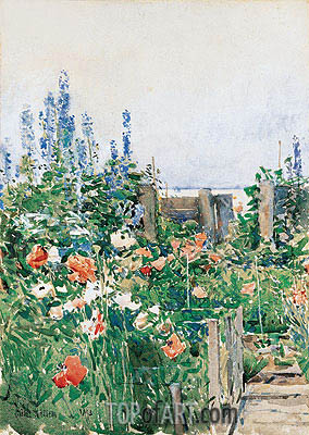 Home of the Hummingbird, 1893 | Hassam | Painting Reproduction