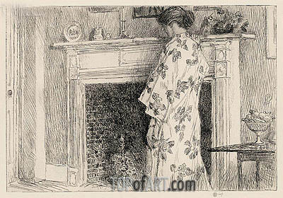 The White Kimono, 1915 | Hassam | Painting Reproduction