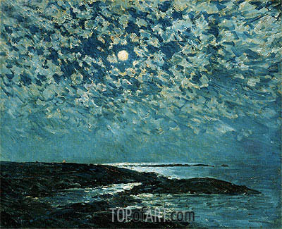 Moonlight, Isle of Shoals, 1892 | Hassam | Painting Reproduction