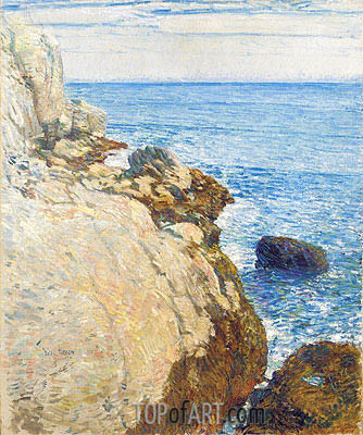 The East Headland, Appledore - Isles of Shoals, 1908 | Hassam | Painting Reproduction