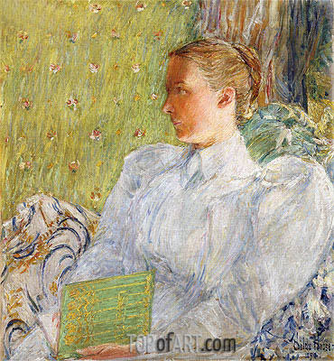 Portrait of Edith Blaney, 1894 | Hassam | Painting Reproduction