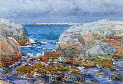 Duck Island, Isles of Shoals, 1906 | Hassam | Painting Reproduction