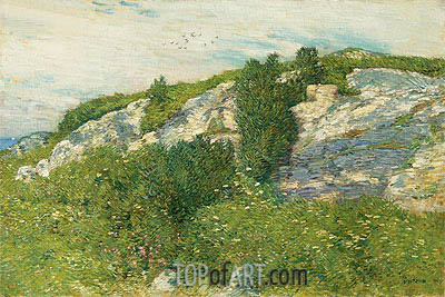 Ledges and Bay, Appledore, 1906 | Hassam | Painting Reproduction