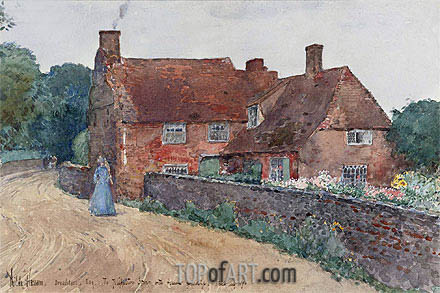 Broadstairs Cottage, 1890 | Hassam | Gemälde Reproduktion