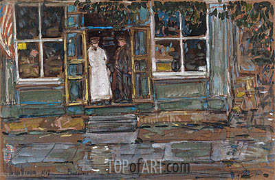 Grocery Store, Phoenecia, 1917 | Hassam | Painting Reproduction