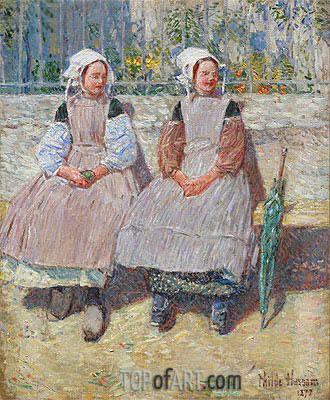 In the Sunlight, 1897 | Hassam | Painting Reproduction