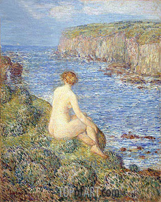 Nymph and Sea, 1900 | Hassam | Painting Reproduction