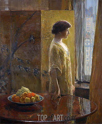 The East Window, 1913 | Hassam | Painting Reproduction