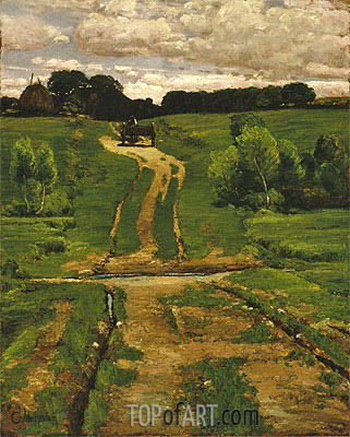 A Back Road, 1884   Hassam   Painting Reproduction