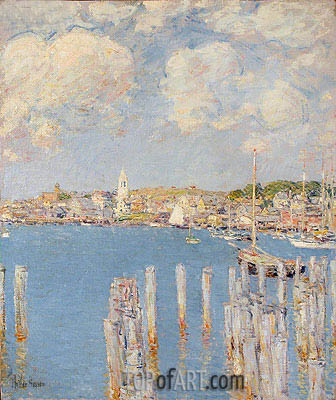 Gloucester Inner Harbor, c.1899 | Hassam | Painting Reproduction