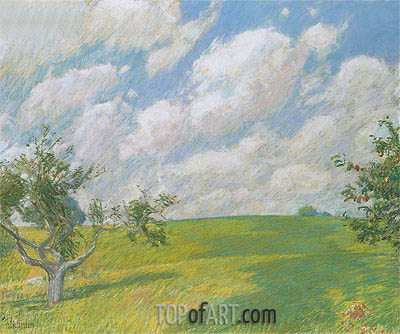 September Clouds, 1891 | Hassam | Painting Reproduction