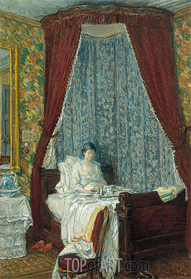 The French Breakfast, 1910 | Hassam | Painting Reproduction
