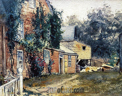 Old House, Nantucket, c.1882 | Hassam | Painting Reproduction