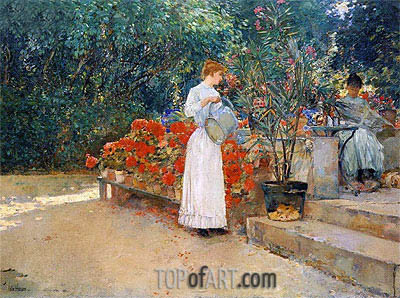 After Breakfast, 1887 | Hassam | Painting Reproduction