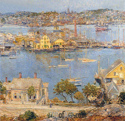 Gloucester Harbor, 1899   Hassam   Painting Reproduction