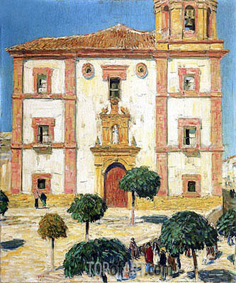 Cathedral at Ronda, 1910 | Hassam | Gemälde Reproduktion