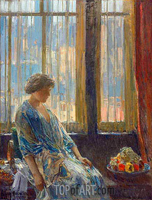 The New York Window, 1912 | Hassam | Gemälde Reproduktion