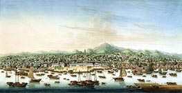 View of Canton, c.1800 by Chinese School | Painting Reproduction