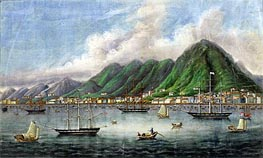 Victoria Island, Hong Kong, c.1865 by Chinese School | Painting Reproduction